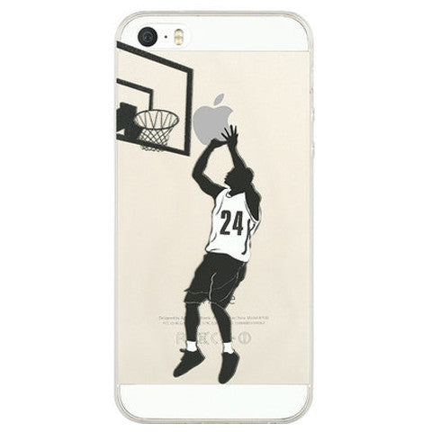 TPU Painted Clear Case for iPhone 5 5S - CELLRIZON