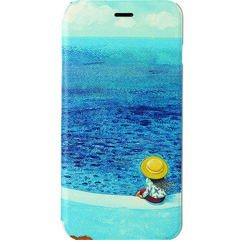 Sea View Stand Leather Case for iPhone 6 - CELLRIZON