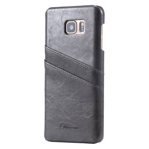 PU Oil wax lines plug-in card Case for Samsung Galaxy note5 - CELLRIZON