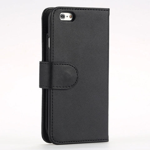 7 Cards Slot Plain Fold Wallet Case for iPhone 6 /6 plus - CELLRIZON