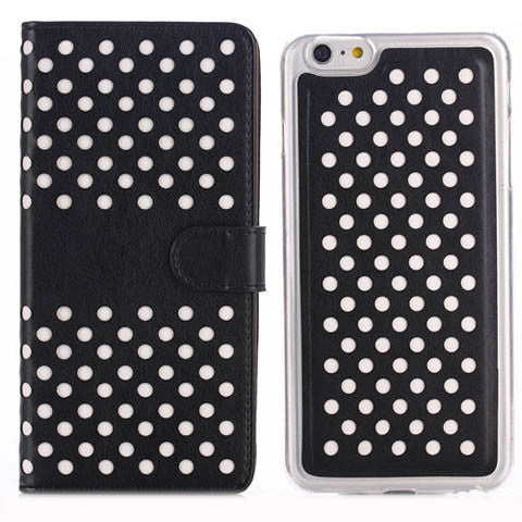 "4.7"" Empty Thread Polka Dot 2 in 1 TPU Wallet Case for iPhone 6 - CELLRIZON"