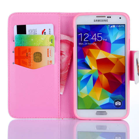 Colorful Butterfly Wallet Standard Case for Samsung Galaxy S5 - CELLRIZON