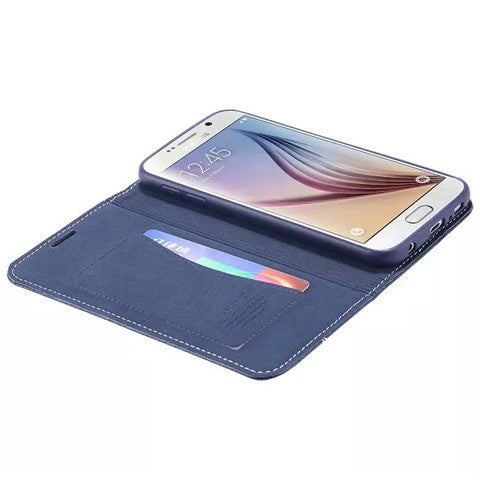 Luxury Wallet Leather Case for Samsung S6 - CELLRIZON