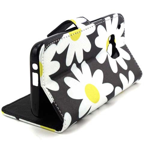 Chrysanthemum Wallet Standard Case for Htc-One M9 - CELLRIZON