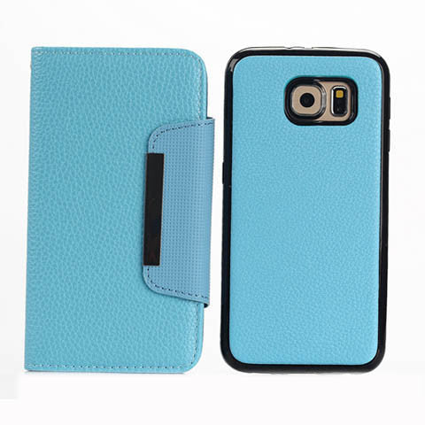 Lychee PU Leather Wallet Stand Phone Case for Samsung Galaxy S6/S6 Edge - CELLRIZON