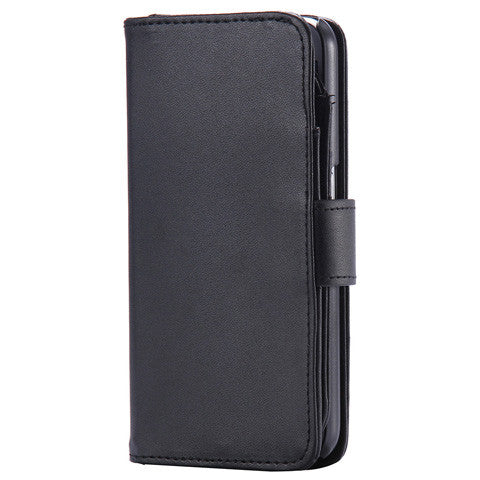 Clearance 7 Cards Slot Plain Fold Wallet Case for Samsung Galaxy S6/S6 Edge/S6 Edge Plus