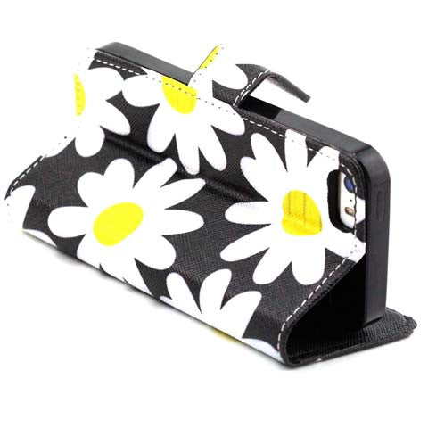 Chrysanthemum Wallet Standard Case for iPhone 5S - CELLRIZON
