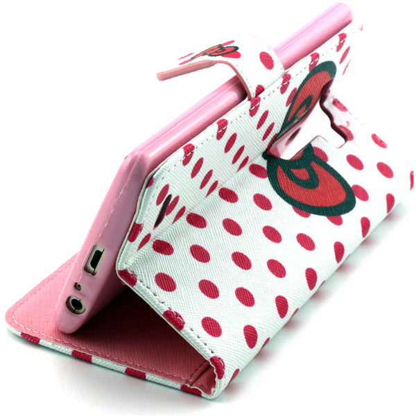 Bowknot Wallet Artificial Leather Case for LG G3 - CELLRIZON