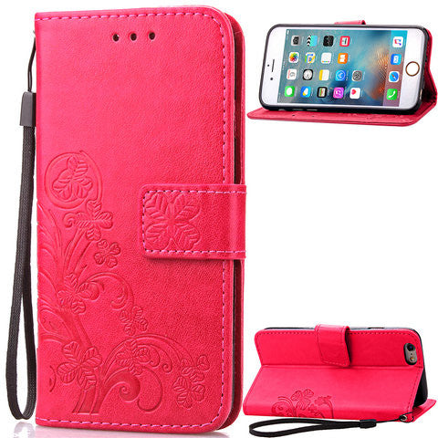 Lucky Clover Wallet Case For iPhone 6 Plus 5.5''/4.7''/5s/SE