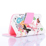 Colorful Butterfly Wallet Standard Case for Htc-One M8 - CELLRIZON