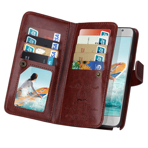 Clearance 9 Cards Slot Wallet Case for Samsung Galaxy Note5