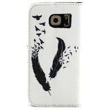 The feathers fly wallet standard case for Samsung Galaxy s6 - CELLRIZON