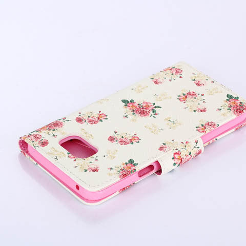 White flower wallet standard case for Samsung Galaxy Note5 - CELLRIZON