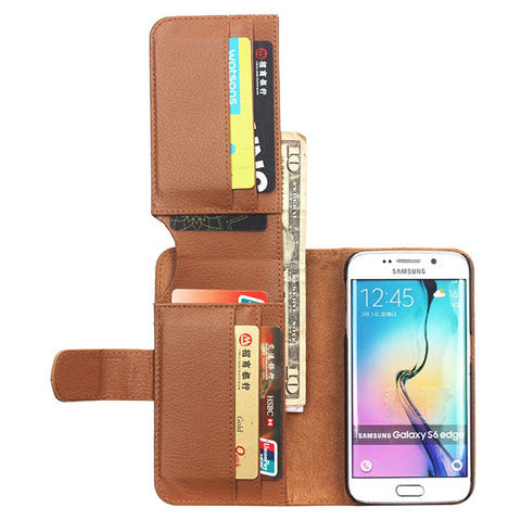 7 Cards Slot Wallet Case for Samsung Galaxy S6 Edge/S6 - CELLRIZON  - 9