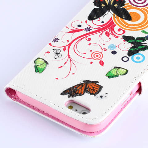 Colorful Butterfly Wallet Standard Case for iPhone 6/6 Plus - CELLRIZON