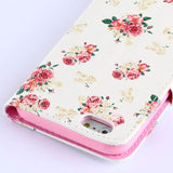 White flower wallet standard case for iphone6 plus 5.5inch - CELLRIZON