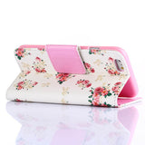 White Flower Wallet Standard Case for iPhone 6 - CELLRIZON