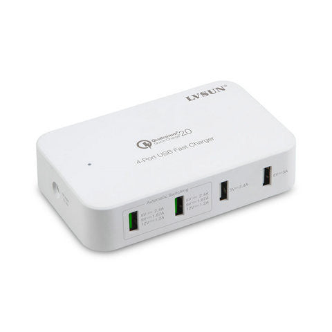4-Port USB Fast Charger- US Plug - CELLRIZON  - 2