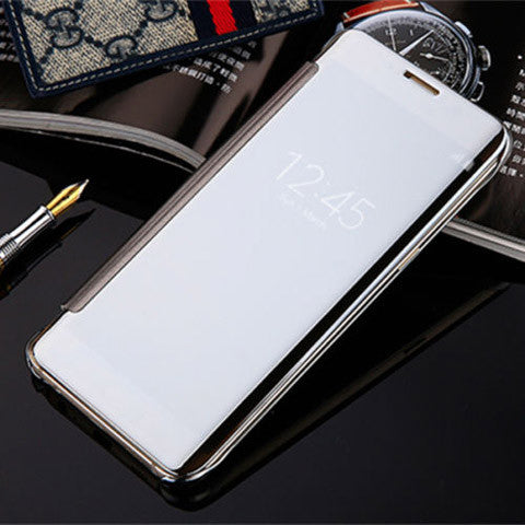 Slim Clear-View Flip Mirror Leather Case For Samsung Galaxy S6 & S6 Edge - CELLRIZON  - 7