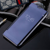 Slim Clear-View Flip Mirror Leather Case For Samsung Galaxy S6 & S6 Edge - CELLRIZON  - 6