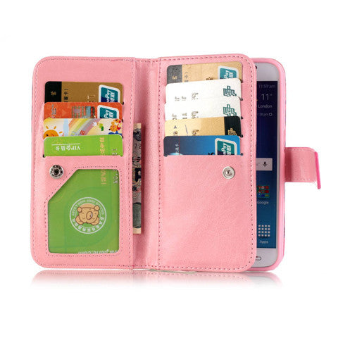 9 Cards  Flower wallet standard case for Samsung S5/S6/S6 edge - CELLRIZON  - 9