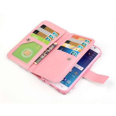 9 Cards  Flower wallet standard case for Samsung S5/S6/S6 edge - CELLRIZON  - 8