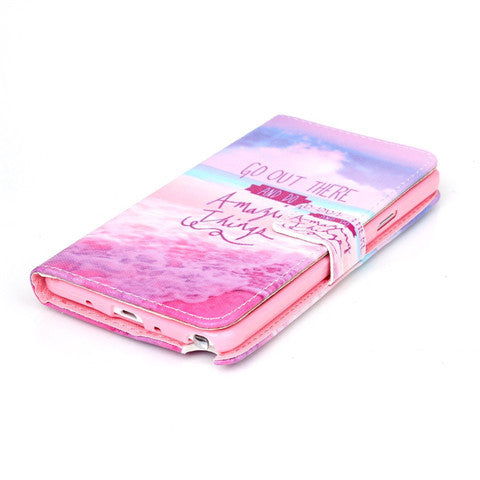 Pink Stand Leather Case For Samsung note4 - CELLRIZON