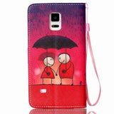 Rain Couples Leather Phone Case for Samsung Galaxy Note 4 - CELLRIZON