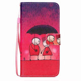 Rain Couples Wallet Phone Case for Samsung Galaxy Note 5 - CELLRIZON