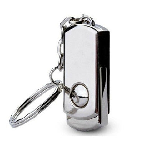 Swivel Metal KeyChain USB Flash Drive 2GB/4GB/8GB/16GB/32GB/64GB - CELLRIZON