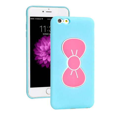 Bowknot Stand TPU Case for iPhone 6 Plus - CELLRIZON