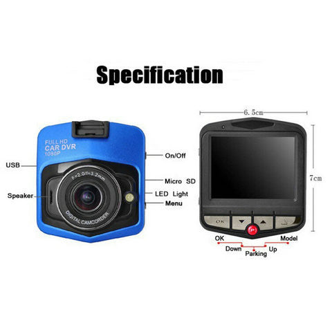 GT300 2.4''  Mini Auto DVR Dash Camera - CELLRIZON