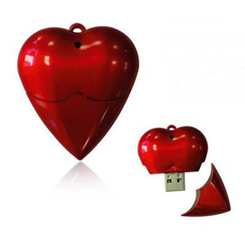 Plastic Heart USB Flash Pen Drive 64gb - CELLRIZON