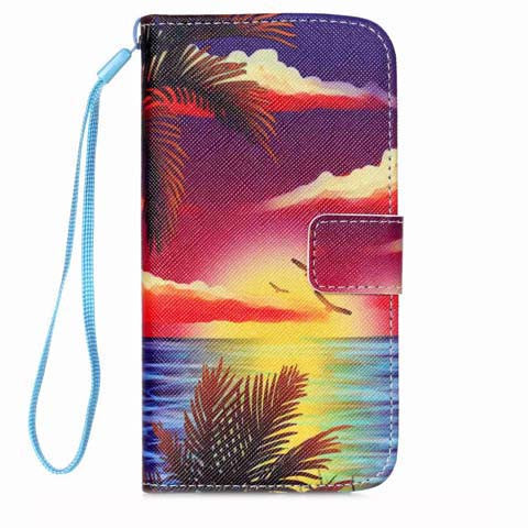 Hawaii Stand PU Leather Case For Samsung Galaxy S5 Mini/S5 - CELLRIZON