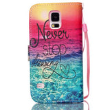 Never Stop Dreaming PU Case For Samsung Galaxy S5 Mini/S5 - CELLRIZON