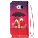 Rain Couples Leather Case for Samsung Galaxy S6/S6 Edge - CELLRIZON