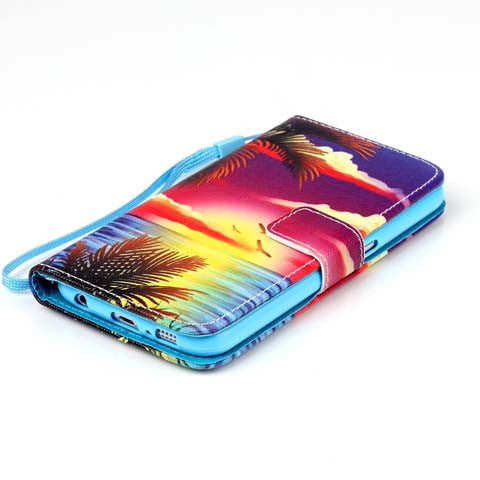 Hawaii Stand PU Leather Case For Samsung Galaxy S6/S6 Edge/S6 Edge plus - CELLRIZON