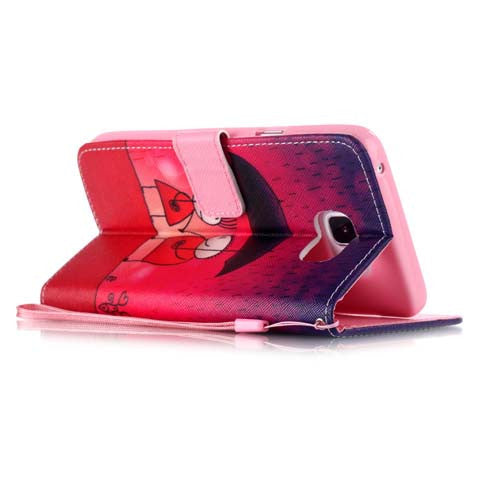 Rain Couples Leather Wallet Case for Samsung Galaxy S6 Edge Plus - CELLRIZON