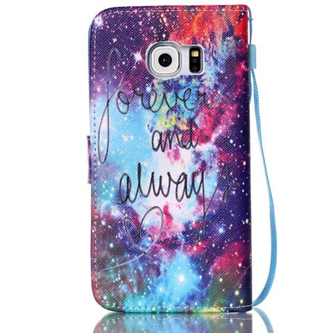 forever and always Flip Wallet Case for Samsung S6 Edge - CELLRIZON