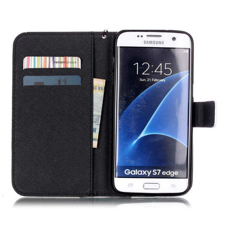 Rolling Eyes 2 Card Slot Case For Samsung Galaxy S7 edge - CELLRIZON