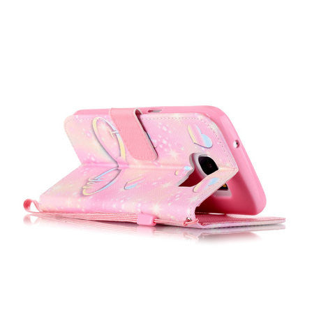 Pink Heart 2 Card Slot Case For Samsung Galaxy S7/ S7 edge - CELLRIZON