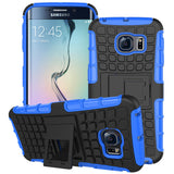 Armor Stand Hard Back Case for Samsung Galaxy S6 Edge - CELLRIZON