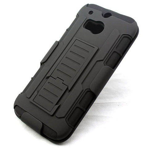 Armor Back Cover with Belt Clip for HTC One M8 - CELLRIZON