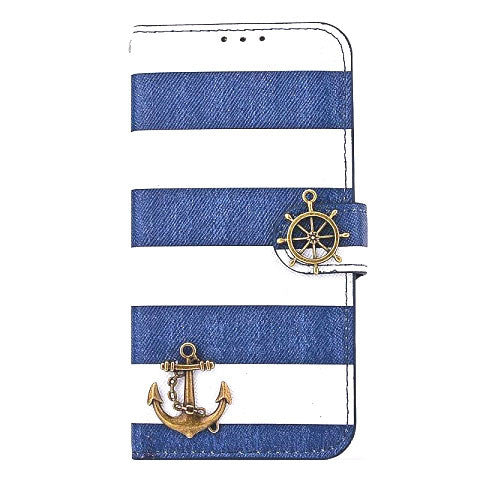 iPhone 6 & 6S Wallet Stripe Leather Case - CELLRIZON