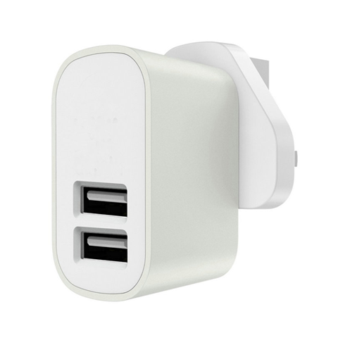 3.1A UK Plug 2-Port USB Charger - CELLRIZON