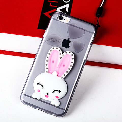 Rabbit silicone shell Case For Iphone 6 4.7inch/6plus 5.5inch - CELLRIZON