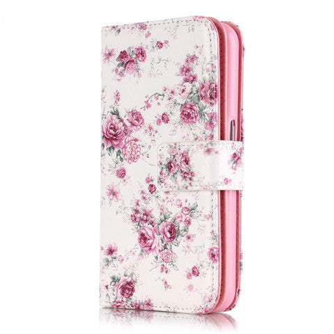 9 Cards  Flower wallet standard case for Samsung S5/S6/S6 edge - CELLRIZON  - 2