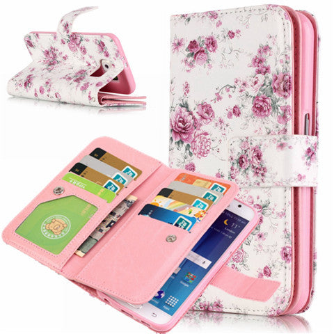 9 Cards Flower wallet standard case for Samsung S7/S7 edge - CELLRIZON  - 4