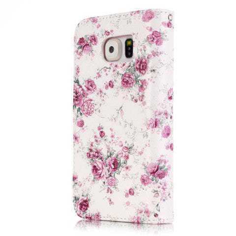 9 Cards  Flower wallet standard case for Samsung S5/S6/S6 edge - CELLRIZON  - 4