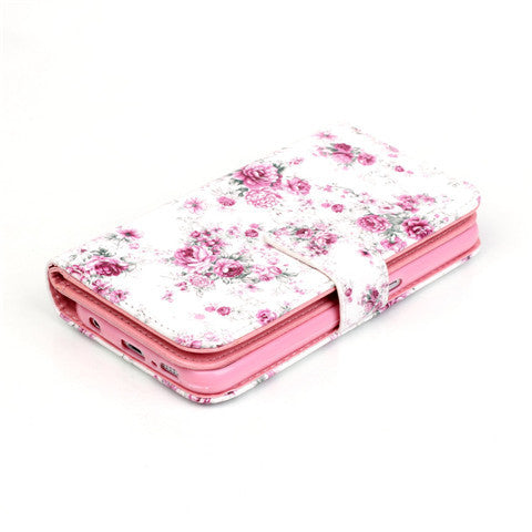 9 Cards  Flower wallet standard case for Samsung S5/S6/S6 edge - CELLRIZON  - 5